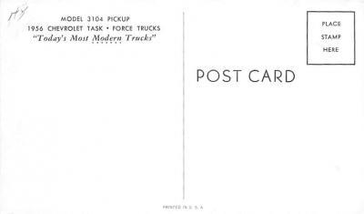 top025893 - Trucks / Buses /  Vans Post Card  back