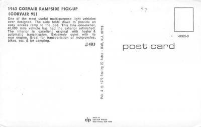 top025895 - Trucks / Buses /  Vans Post Card  back