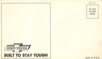 top025901 - Trucks / Buses /  Vans Post Card  back