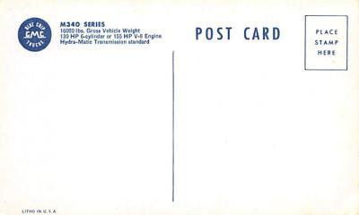 top025959 - Trucks / Buses /  Vans Post Card  back