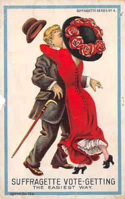 top030621 - Suffragette Vote Getting Womans Rights to Vote Suffragette Vintage Postcard