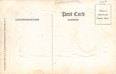 top030641 - Frances E. Willard - Only the Golden Rule of God….. Womans Rights to Vote Suffragette Vintage Postcard  back