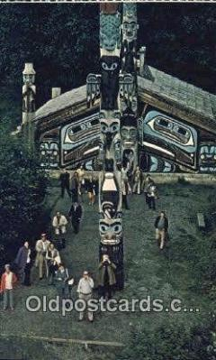 tot001008 - Ketchikan, Alaska, USA Totem Pole Postcard Post Card Old Vintage Antique