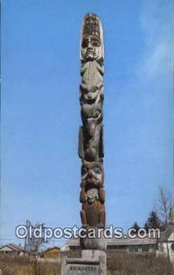 tot001010 - Wrangell, Alaska, USA Kicksetti Totem Pole Postcard Post Card Old Vintage Antique