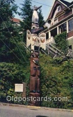 tot001016 - Ketchikan, Alaska, USA Kyan Totem Pole at Saxman Park,  Postcard Post Card Old Vintage Antique