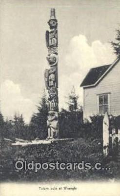 tot001027 - Wrangle, Alaska Totem Pole Postcard Post Card Old Vintage Antique
