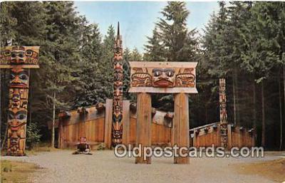tot001034 - Haida Indian Village BC, Vancouver, Canada Postcard Post Card