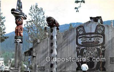 tot001036 - Chief Shake Community House, Sea Serpent Totem Wrangell, Alaska Postcard Post Card