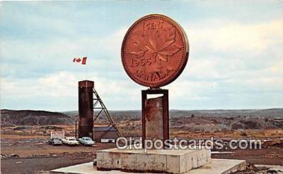 tot001052 - Big Penny, Canadian Centennial Numismatic Park Sudbury, Ontario, Canada Postcard Post Card