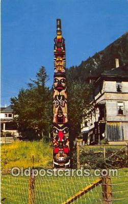 tot001060 - Old Witch Totem Pole Juneau, Alaska Postcard Post Card