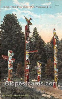 Indian Totem Poles, Stanley Park