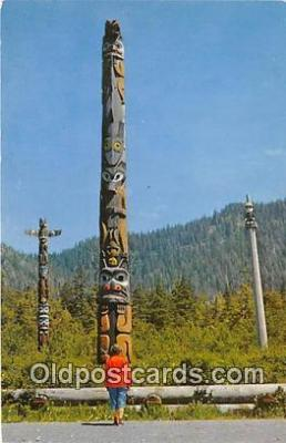 tot001081 - Main Totem, Totem Park Alaska Postcard Post Card