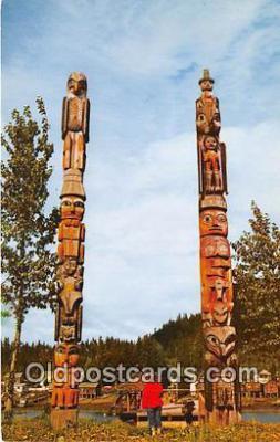 tot001084 - Chief Shakes Island Wrangell, Alaska Postcard Post Card