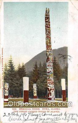 tot001089 - Memorial Totem Sitka, Alaska Postcard Post Card