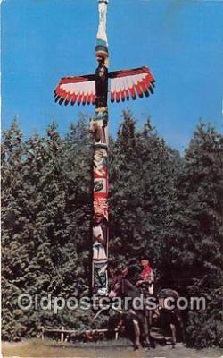 tot001090 - Indian Totem Pole Oklahoma, USA Postcard Post Card