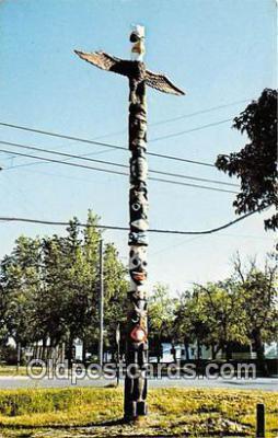 tot001093 - Totem Pole Cass Lake, Minnesota, USA Postcard Post Card