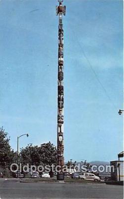 tot001096 - Totem Pole Tacoma, Washington, USA Postcard Post Card