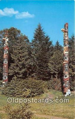 tot001098 - Totem Poles Prince Rupert, BC Postcard Post Card