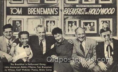 tow001006 - Tom Breneman in Hollywood over Amrican Broadcasting Company, Radio Station Personality, Postcard Postcards
