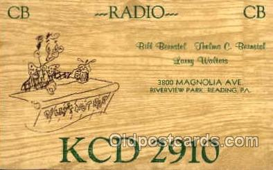 tow001011 - QSL Radio Station,  Postcard Postcards