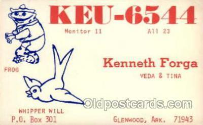 tow001020 - QSL Radio Station,  Postcard Postcards