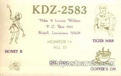 tow001038 - QSL Radio Station,  Postcard Postcards