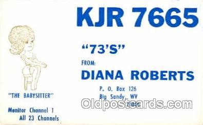 tow001044 - QSL Radio Station,  Postcard Postcards