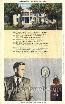 tow001068 - Birthplace of will Rogers Radio Station Tower, Towers Postcard Postcards
