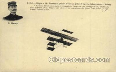 tra001073 - Biplan H. Farman, Pilot Lieutenant Remy