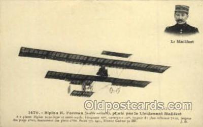 tra001075 - Biplane H Farman, Lieutenant Mailfert