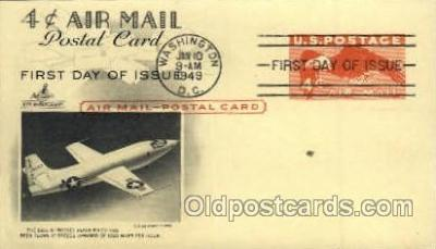 tra001086 - 4 cents air mail postal card postmarked 1949