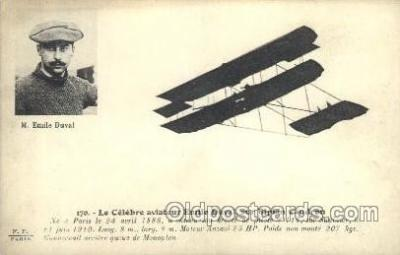 tra001151 - M. Emile Duval Early Air Airplane Postcard Postcards