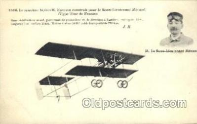 tra001152 - M. Le Sous-Lieutenant Menard Early Air Airplane Postcard Postcards