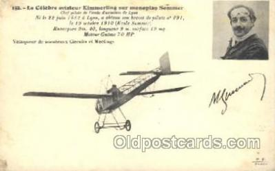tra001158 - Le Celebre aviateur Kimmerling sur monoplan Sommer Early Air Airplane Postcard Postcards