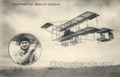 tra001161 - Martinet Early Air Airplane Postcard Postcards