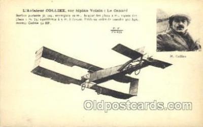 tra001167 - M. Colliex Early Air Airplane Postcard Postcards