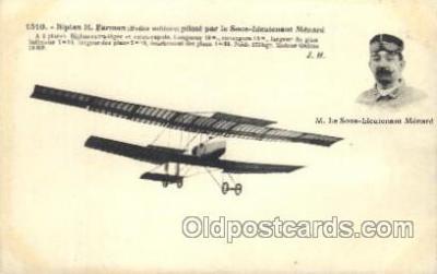 tra001177 - M. Le Sous-Lieutenant Menard Early Air Airplane Postcard Postcards