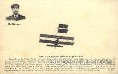 tra001178 - M. Metrot Early Air Airplane Postcard Postcards