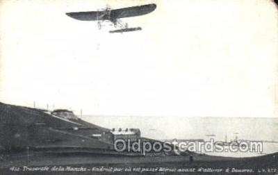 tra001203 - Traversee de la Manche,  Aviation, Airplane Postcard Postcards