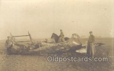 tra001220 - Shot Down WW I, Aviation, Airplane Postcard Postcards