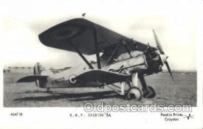 tra001229 - R.A.F. Siskin 3A Aviation, Airplane Postcard Postcards