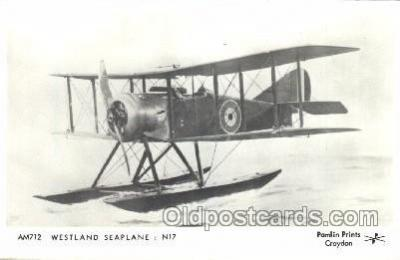 tra001231 - Westland Seaplane N17 Aviation, Airplane Postcard Postcards