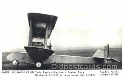 tra001232 - Twin engine Biplane Aviation, Airplane Postcard Postcards