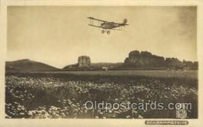tra001242 - Schrammsteine, Germany Early Air Postcard Post Card Old Vintage Antique