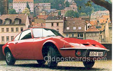 tra002007 - Opel GT ( Model 77) postcard postcards
