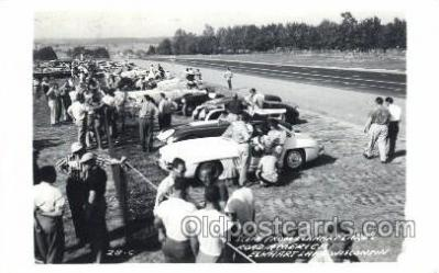tra002132 - Elkhart Lake's Road America Auto, Automotive, Car, Postcard Postcards