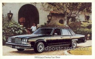 tra002140 - 1978 Buick Electra Four Door Automotive Old Vintage Antique Postcard Post Cards