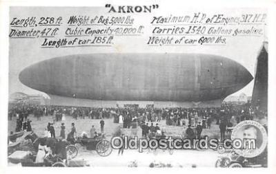 tra004129 - From Rubber City Stamp Club, Akron, Ohio USA Zeppelin Air Ship Akron Postcard Post Card
