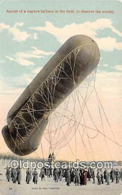 Ascent of a Captive Balloon in the Field, to Observe the Enemy