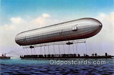 Der erste Aufstieg eines Zeppelinluftschiffes